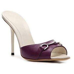 Gucci Incrociato Leather Horsbit Sandals